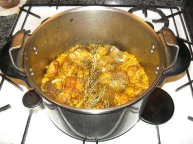 Resultado de imagen de como preparar arroz con pollo en olla a presion