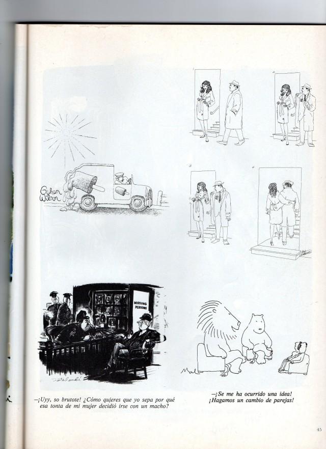 humor grafico verde en blanco y negro