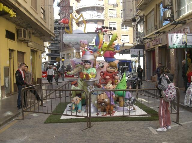 Falla infantil calle Linterna de Valencia