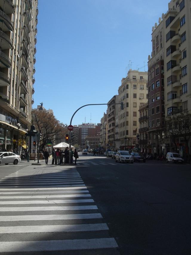 Calle Xátiva de Valencia en fecha 15 de marzo de 2013