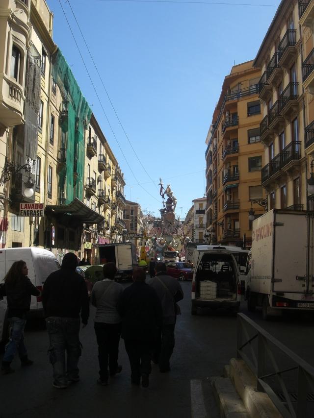 Acercándose a la falla de Convento Jerusalen de Valencia