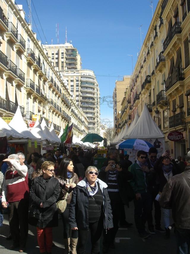 Calle Convento Jerusalen de Valencia en fecha 15 de marzo de 2013.