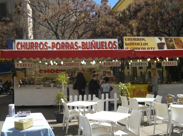 Churros y Buñuelos en la Plaza del Tossal fallas 2013