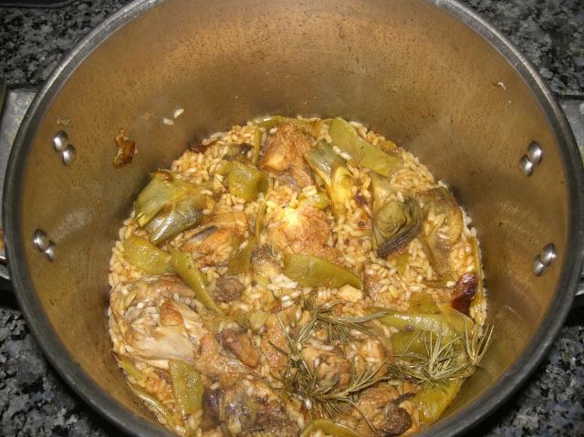 arroz con pollo en olla express