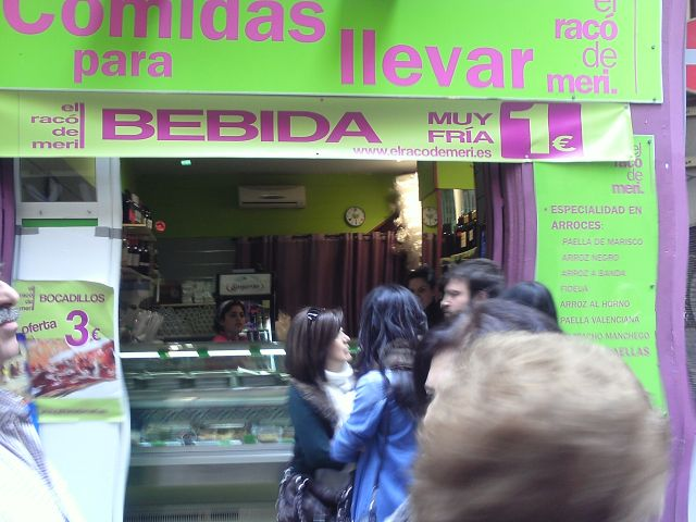 Comidas para llevar calle Trench Valencia Fallas 2013