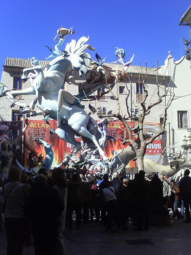 Falla del Pilar 2013 Valencia. Montandose en fecha 15 de marzo.