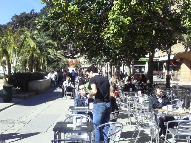 Carrer del Hospilal de Valencia en fecha 15 de marzo de 2013.