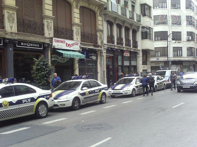 Policia Local de Valencia.