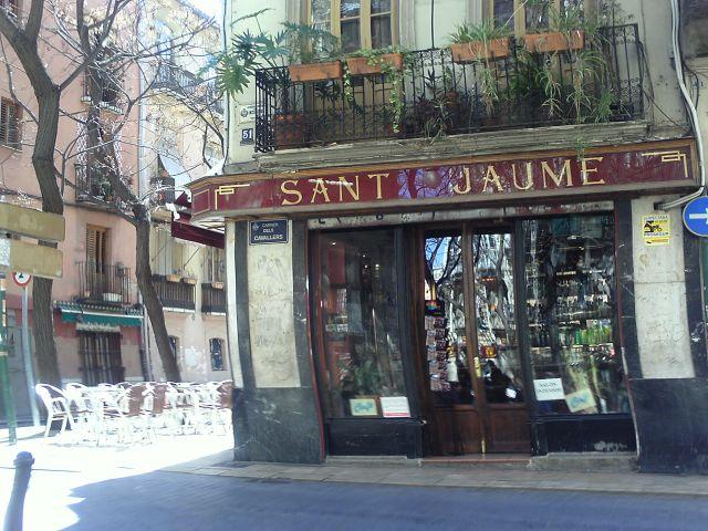 Bar San Jaime en la Plaza del Tossal del Barrio del Carmen de Valencia