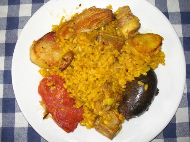 plato de arroz al horno