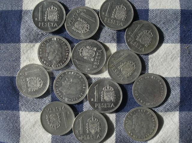 Pesetas plateadas del Rey Juan Carlos I, estas fueron las penúltimas pesetas. la peseta dejó de ser