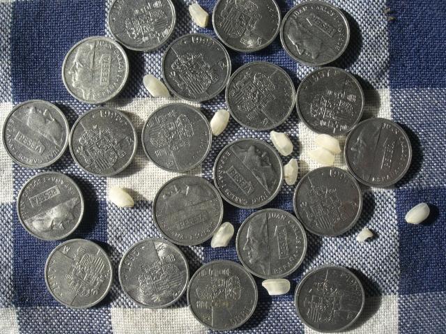 Estas monedas de 1 peseta fueron las últimas. La gente les lllamabamos