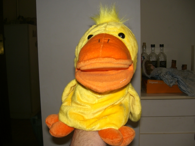 Marioneta pato con sonido