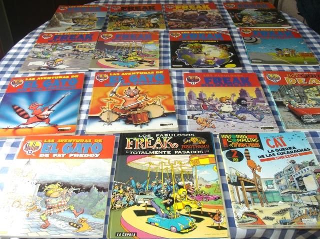 Colección de comics de los Fabulosos Freak Brothers