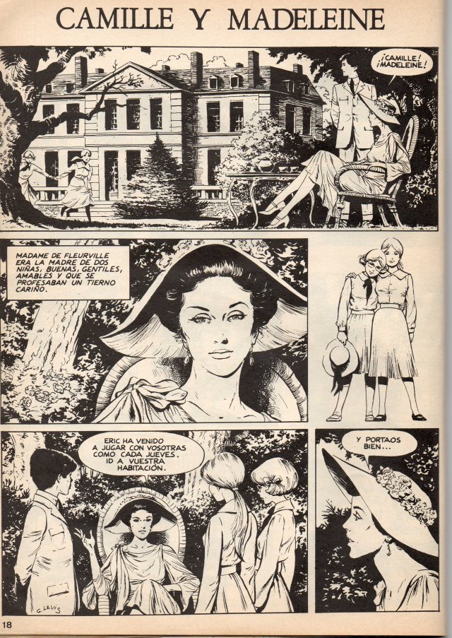 """Cómic erótico """"Camille y Madeleine"""" de G. Levis, especial Francia de """"El víbora"""", 1985."""