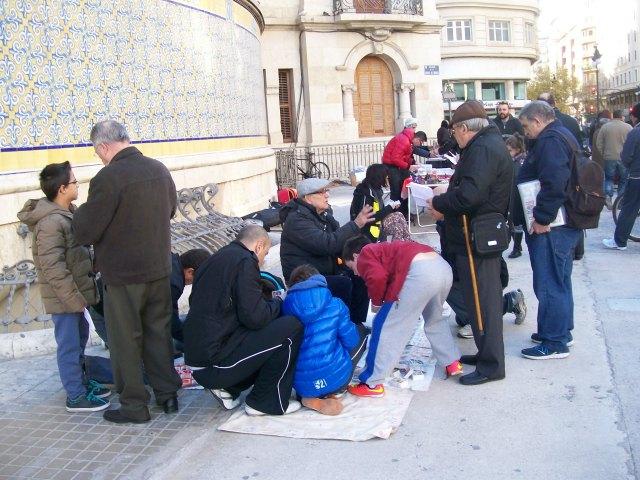 Cambio de cromos en Valencia 7 de diciembre 2014