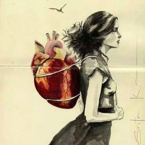 corazon a la espalda