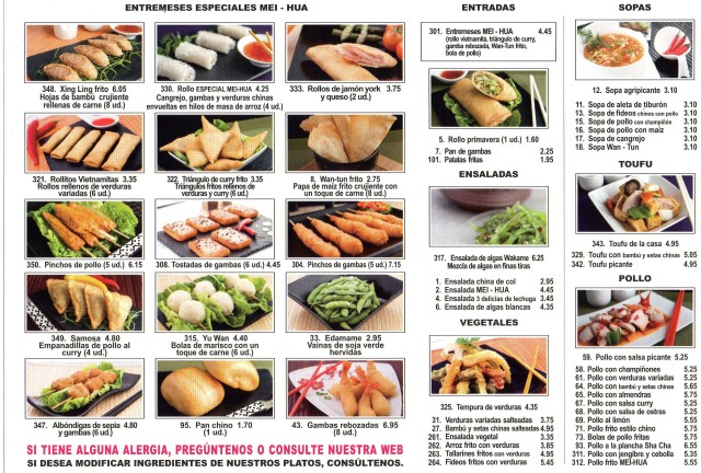 platos de comida china propaganda