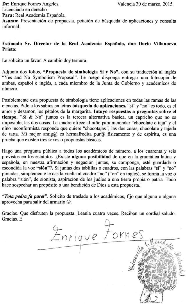 carta a la real academia española