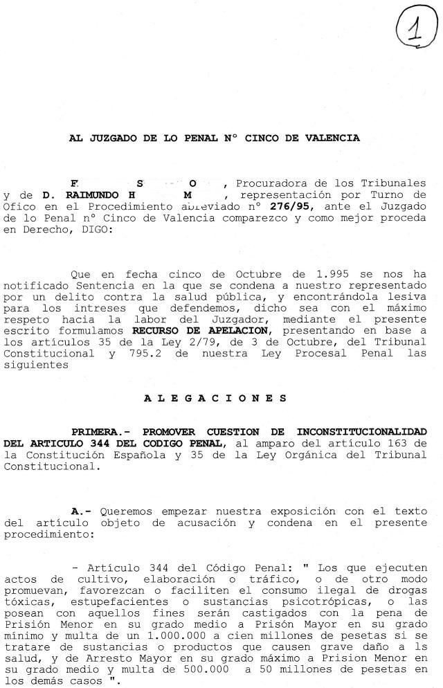 recurso de inconstitucionalidad en materia de drogas enrique fornes angeles abogado