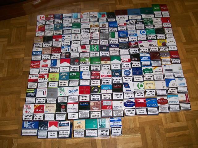 marcas de paquetes de tabaco cigarrillos rubios