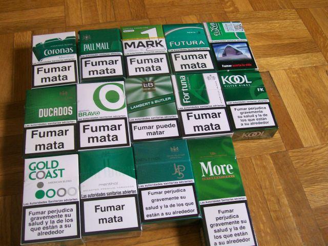 marcas de cigarrillos mentolados