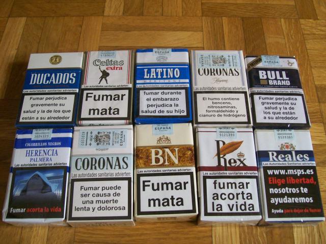 marcas de cigarrillos negros